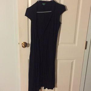 United Colors of Benetton Black Wrap Dress
